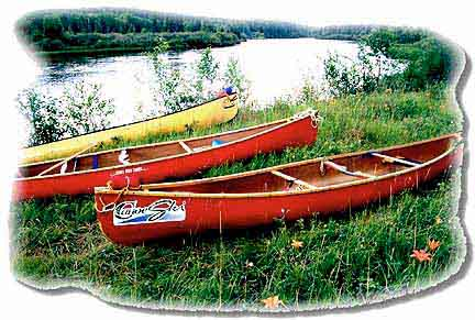 Three Kevlar Prospector Canoes