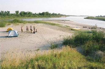 South Saskatchewan River beach campsite