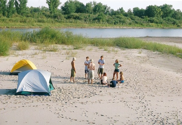 Sandbar socializing on the South Saskatchewan River