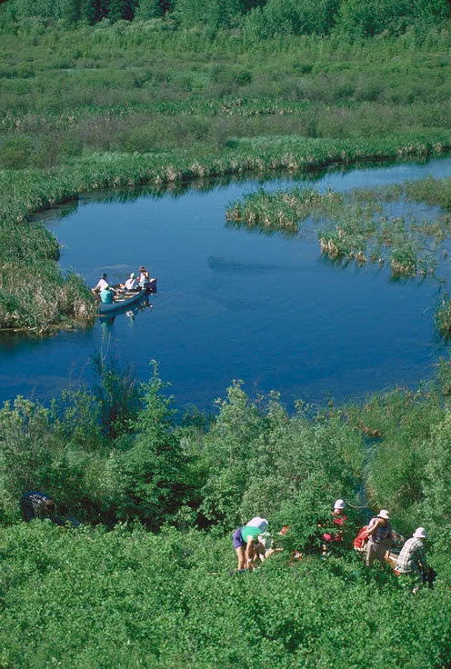 Canoeing the Sturgeon River in Prince Albert National Park