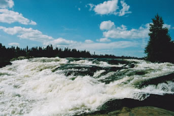 Robertson Falls on northern Saskatchewan's Churchill River