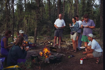 Wilderness baking with a reflector oven and campfire