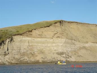 South Saskatchewan River sand cliffs