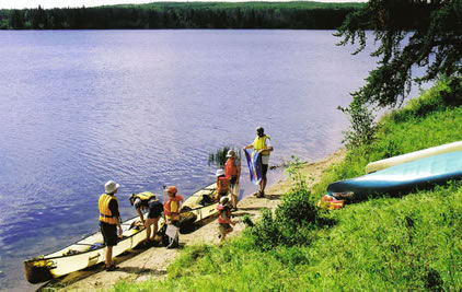 CanoeSki Family Voyageurs canoe trip in Prince Albert National Park