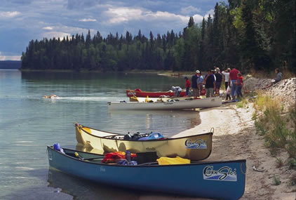 Canoeing on Kingsmere Lake in Prince Albert National Park