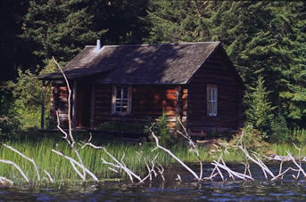 Grey Owl's cabin in Prince Albert National Park