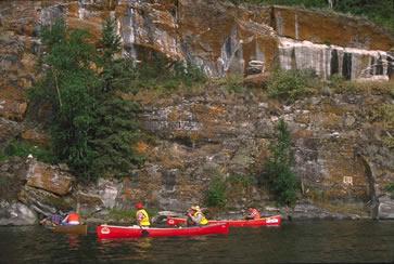 Colorful Canadian Shield rock in northern Saskatchewan