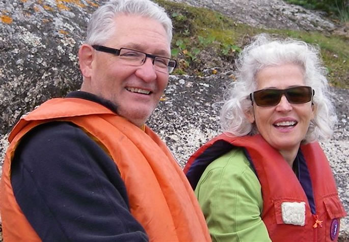 Dave and Lorna on the Churchill River