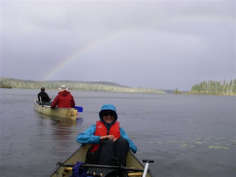 Rainbow on Otter Lake, Churchill River