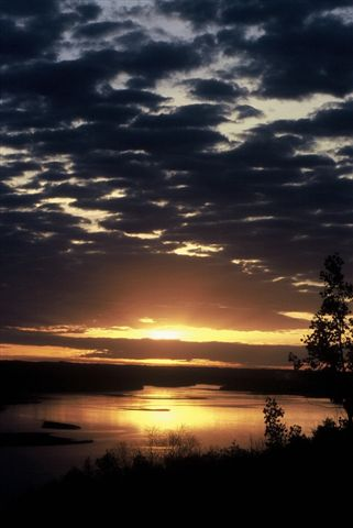 Sunrise over the North Saskatchewan River
