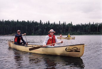 All women's canoe trip on the Churchill River