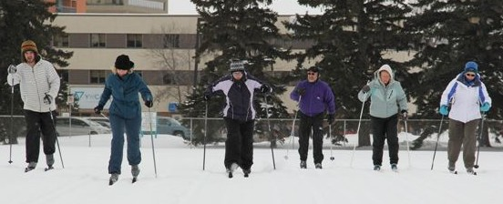 Cross-country skiing in Saskatoon's Kinsmen Park