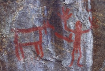 Aboriginal rock paintings in northern Saskatchewan
