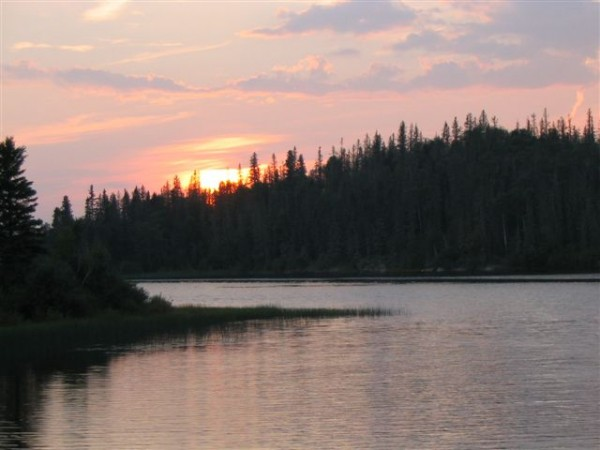 Sunset on Otter Lake, Churchill River