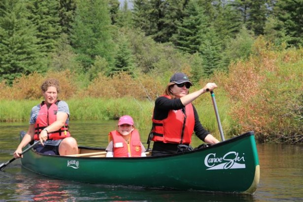 Family Voyageurs canoe trip in Prince Albert National Park