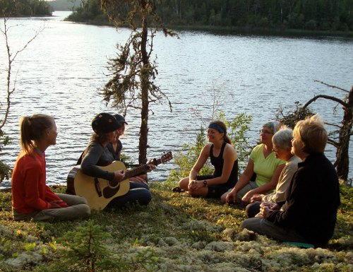 Women's canoe trip on the Churchill River