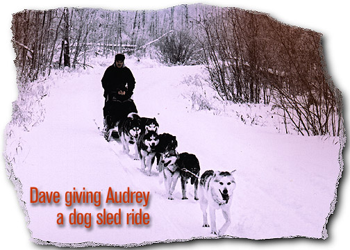 Dave giving Audrey a dog sled ride